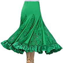 Mujer Profesional Falda de Encaje Grande Vestido de Baile De Flamenco Tango Salsa Latin