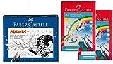 Faber-Castell 167136 - Manga Starter Set Artistpen mit 2 Faber Castell Zeichenblöcken DIN A4 je 20 Blatt
