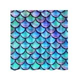MagiDeal Shower Curtain 71 x 71 Inch Water resistant and Mildew Proof - Scenery Decor - Fish scale, 180x180cm