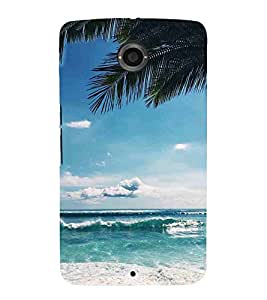For Motorola Nexus 6 :: Motorola Nexus X :: Motorola Moto X Pro :: Motorola Google Nexus 6 eautiful sea ( tree, sea, sky, river, nature ) Printed Designer Back Case Cover By Living Fill