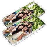 Personalisierte Premium Foto-Handyhülle für Huawei-Serie selbst gestalten mit Foto bedrucken, Hülle:Slim-Silikon / Schwarz (transparent), Handymodell:Huawei P20
