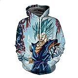 Lzh3D Unisex Hoodie Anime Kapuzenpullover 3D Druck Muster Sweatshirt Pullover Cosplay Dragon Ball XXXL