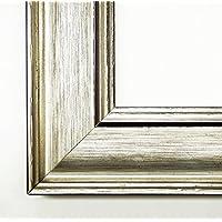 Cornice in Argento Fenice 4,9 - vuoto senza vetro 80 x 90 cm Quadro - molte misure - altre varianti con luce normale vetro, Museo vetro, Plexiglas disponibili in negozio - anticato, Modern