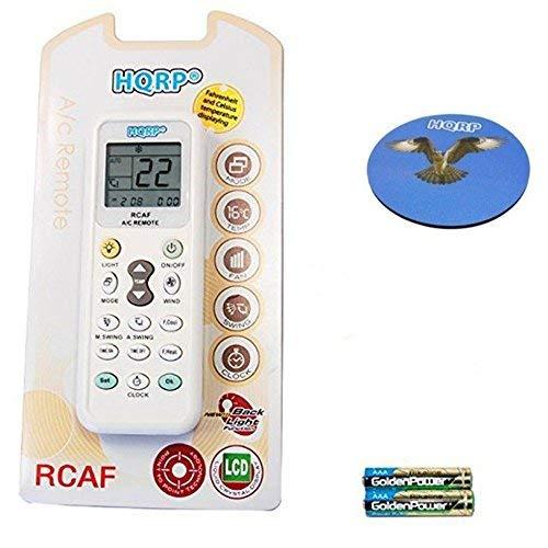 HQRP Universale Fernbedienung kompatibel mit RIJIANG/ROWA/SACON/Samsung/SANYO/NEC/SANZUAN/SAPORO/SAST/Sensor/SAN-Key und andere Klimaanlagen + HQRP Untersetzer