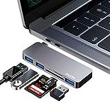 Hoplaza Hub C USB, hub de Type C Adaptateur Multi-Ports 5 en 1 avec 3 * Ports USB 3.0 A et Lecteur de Carte SD/TF Compatible avec Macbook, Macbook Pro/Air, Dell XPS, HP Spectre 12/13 et Plus