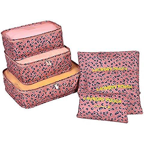 FunYoung Cubo conjunto de embalaje de 6 piezas bolsa en bolsa de almacenamiento caso sobre los viajes