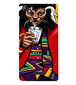 PrintVisa Modern Cartoon Art 3D Hard Polycarbonate Designer Back Case Cover for Micromax Canvas 5 E481
