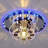 Moderne Kristall-Kronleuchter-runde Deckenleuchte für Schlafzimmer, Badezimmer, Esszimmer (weißes Licht, warmes weißes Licht)