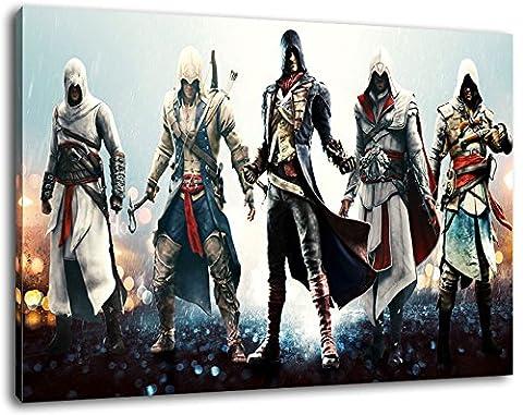Dark Assassins Creed format 100x70 cm terminé encadrées images art