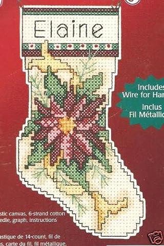 Weihnachtsstern Christbaumschmuck aus Kunststoff/Segeltuch,