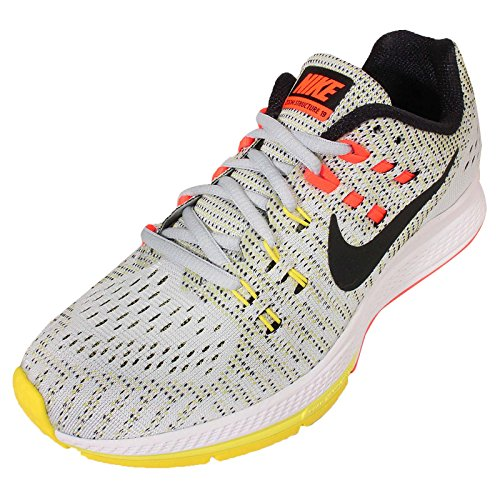 Nike Unisex-Erwachsene W Air Zoom Structure 19 Laufschuhe Versilbert (Pr Pltnm / Blk-Opt Yllw-Hypr Orn)