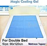 Magic Cooling Gel Blue Cool Pad Mat Orthopedic Mattress Topper Small Large Pet
