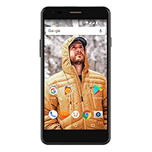 Wileyfox Spark X 5.5 Inch HD SIM-Free Smartphone with Android Nougat 7.0 (3000 mAh, 16 GB, 2 GB RAM, Dual SIM 4G) - Black