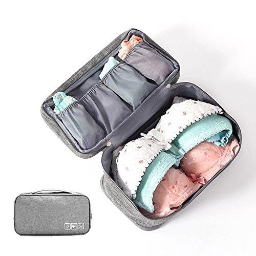 nktions BH Tasche, Unterwäsche Tasche, Tragbare Tote Make Up Tasche BH & Höschen Tasche Pouch Organizer - Grau ()