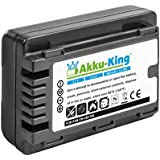 Akku-King Batterie pour Panasonic HC-V110, V110GK, V110K, V110P, V201 - remplace VW-VBY100, VBY100E-K - Li-Ion 900mAh