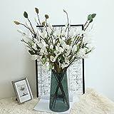 AmyGline Künstliche Gefälschte Blumen Blatt Magnolia Blumen Blumenstrauß Party Home Decor