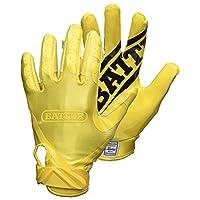 قفازات Battle Double Threat للكبار لكرة القدم، أصفر/أصفر، مقاس صغير