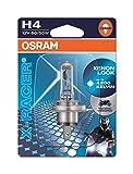 OSRAM X-RACER H4 Halogen, Motorrad-Scheinwerferlampe, 64193XR-01B, Einzelblister (1 Stück)