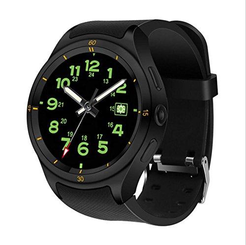 Smart Uhr F10 Android 5.1 ROM16GB + RAM1G Smartwatch IP67 Wasserdicht Unterstützung SIM Nano 3G GPS Wifi Herzfrequenz 600 Mah,Black (Mah 600 Handy)