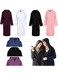 Sunshine Linens 100% Luxury Egyptian Cotton Towelling Bath Robe Unisex Dressing  Gown Terry Towel Hooded c36401e1d