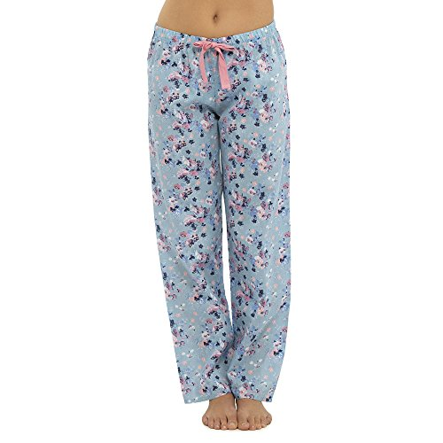 - 51cRw1kKfQL - Womens Ladies Woven Lounge Pants Lightweight Pyjama Bottoms Trouser Nightwear PJ