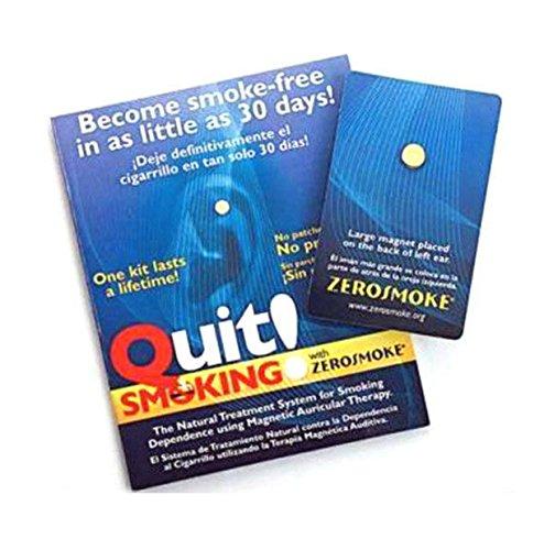 QUIT RAUCHEN MIT ZEROSMOKE-GESUNDHEITS-MAGNETEN - Gold überzogener Ohr-Therapie-Magnet-Ohrring (Ohr Therapie)