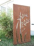 Garten Sichtschutz aus Metall Rost Gartenzaun Gartendeko edelrost Sichtschutzwand 031344-1 150*75*2cm