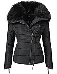 31446743e0 Navahoo Yuki2 Ladies' Winter Jacket with Black Faux Fur Hood 8 Colors XS-XXL