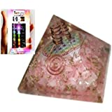 Jet Exquisite A++ Rose Quartz Flower of Life Chakra Orgone Pyramid Free 40 Page Booklet on Jet International Crystal Therapy Reiki Free Booklet Jet International Crystal Therapy Crystal Gemstones Copper Metal Mix Rare Healing Positive Energy Tetrahedron Sacred Geometry Memory Concentration Meditation Spiritual Psychic Piezo Electric Effect Business Prosperity