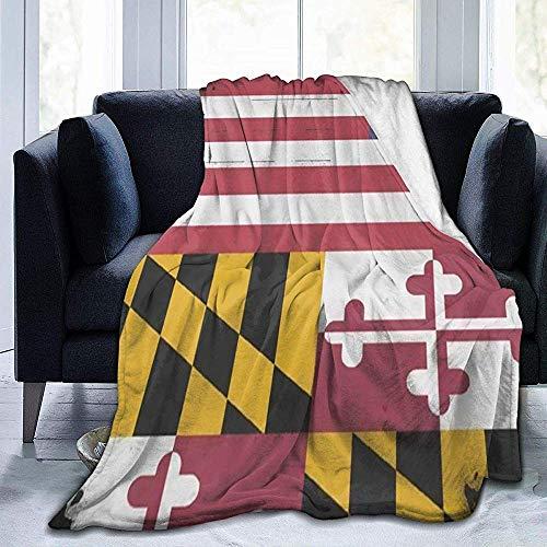 Decke Maryland Flag American Flag Decke Ultra Soft Velvet Blanket Bettdecke Sofa Blanket Carpet -