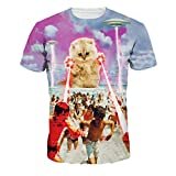 Jiayiqi Trendige Leistungsstarke Laser Katze T-Shirt Kurzarm Sommer Paar Shirts Drucken