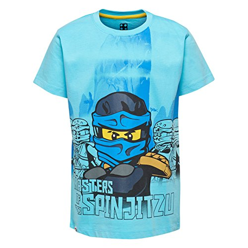 Lego Wear Jungen T-Shirt Lego Ninjago M, Türkis (Light Turquise 733), 134