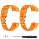 Turnwin for vivosmart HR+ Bands, Replacement Bands & Screws Tool for Garmin vivosmart HR+ Bracelet Smart Wristband Wireless Activity Bracelet Sports Bracelet Arm Band Armband, Orange+Orange
