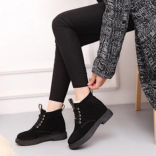 HSXZ Scarpe da donna in pelle Nubuck inverno combattere Stivali Stivali Null / Round Toe Null / di abbigliamento casual kaki nero Khaki