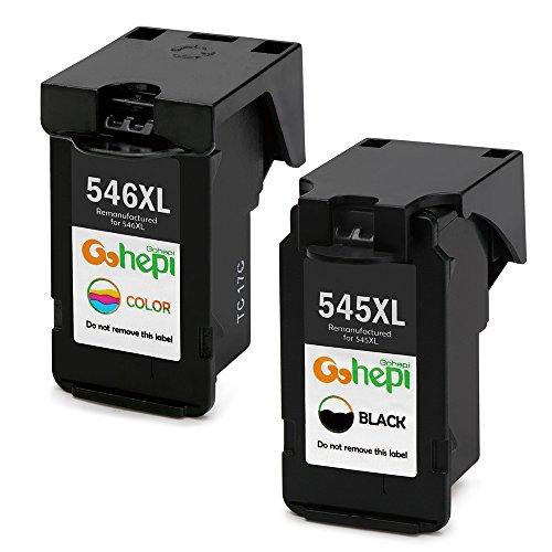 Gohepi Remanufactured Canon PG-545XL CL-546XL Druckerpatronen 2er-Pack Schwarz/Tri-Farbe für Canon PIXMA iP2850 iP2800 MG2400 MG2450 MG2455 MG2500 MG2550 MG2900 MG2920 MG2950 MG2555 MX495