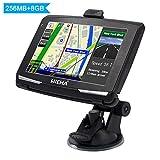 5' GPS Automatique de Voiture Moto 8GB, Hieha Appareil de Navigation Écran...