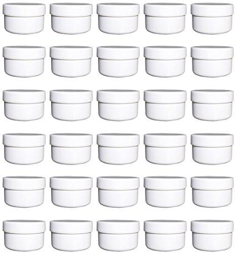 30 Salbendöschen, Creme-döschen, Salbenkruke flach, 60ml Inhalt - MADE IN GERMANY