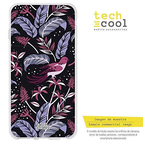 Funnytech Xiaomi Redmi 5 Plus Hülle SchutzHülle Soft TPU Silikon Transparent für Xiaomi Redmi 5 Plus l Case, Cover, Handy, High Definition Druck [Plumas pajaros rosa]