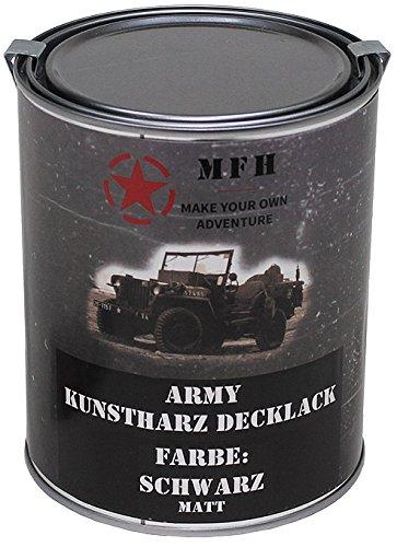 felgen lackspray MFH Farbdose, Army Schwarz, Matt, 1 Liter