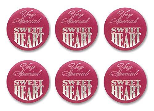 Beistle BN040sehr spezielle Sweetheart Satin Button, 5,1cm 6Knöpfe in Paket