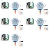 Semoic Controladores de motor paso a paso 5pcs DC 5V + Placa de modulo de controlador ULN2003 28BYJ-48 TE118