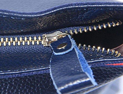 Borse In Pelle Borsa A Tracolla Di Moda Di Grande Capienza Del Sacchetto Della Borsa Semplice Selvatici Blue