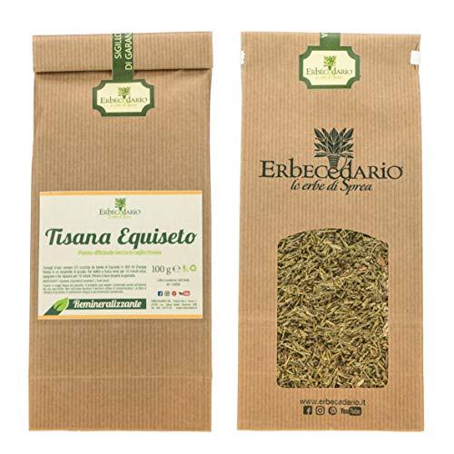 tisana equiseto erbecedario utile per cellulite, ritenzione idrica, osteoporosi, capelli sfibrati, 1 sacchetto 100g