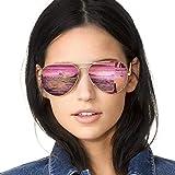 Pilotenbrille Damen Verspiegelt Sonnenbrille Polarisiert Metallrahmen 100% UVA