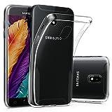 CLM-Tech Custodia Trasparente per Samsung Galaxy J3 2017, Silicone Cover Gel Gomma TPU Case, Crystal Clear [Anti-Graffio] [Anti-Urto]