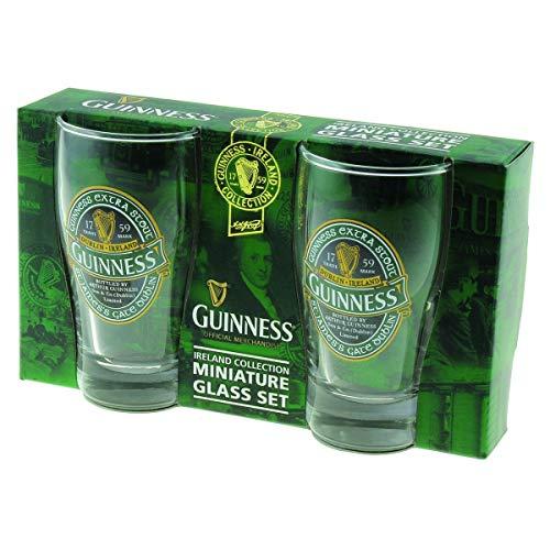 "Mini Pint-Gläser 2er-Pack mit ""St. James' Gate""-Aufdruck - ""Guinness Ireland""-Kollektion"