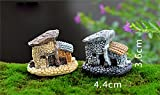 BESTIM INCUK Miniature Fairy Garden House Ornament Dollhouse Plant Pot Figurine DIY Outdoor Decor Home Decoration (Random Color) - BESTIM INCUK - amazon.co.uk