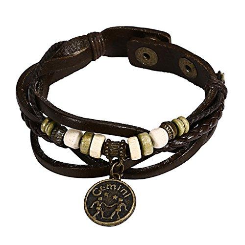anazoz-fashion-jewelry-button-adjustable-black-leather-bracelet-bracelet-gemini-constelacion-simple-