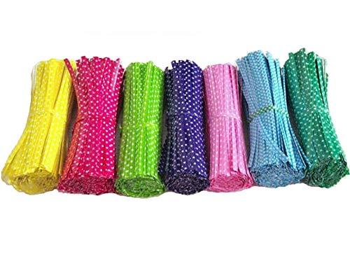 Fully 700 pièces Twist Ties Lot de 10 Bandes de Reliure en métal Longue pour Sachet en Verre cellulaire 10 cm