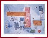 1art1® Vassily Kandinsky Poster Reproduction et Cadre (Plastique) - Structure Angulaire (50 x 40cm)